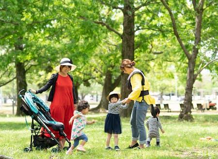 子育てに最適な広々とした公園も溢れています♫