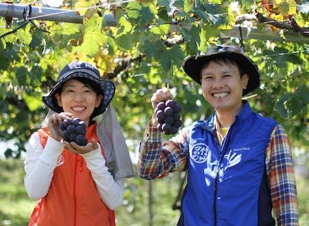 東京からIターンしてブドウ農家になった関さん夫婦