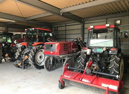 株式会社南張農産が使用している機械類です