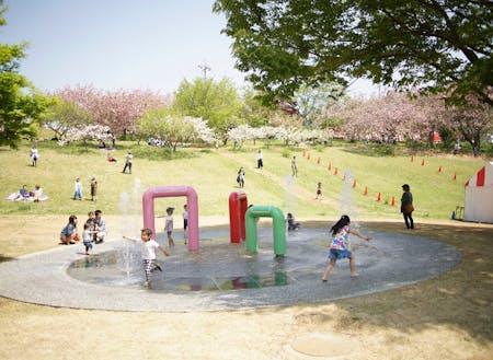 静峰ふるさと公園の様子。春に咲く桜は圧巻です!