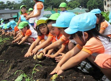 群馬県の幼稚園の様子