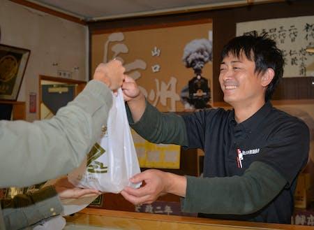 田中さんがいつも笑顔で出迎えてくれます