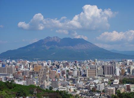 県内本土のいろいろなところから見えます(桜島)