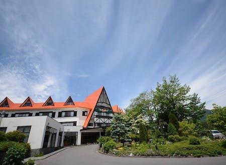大町温泉で一番古いホテルです。