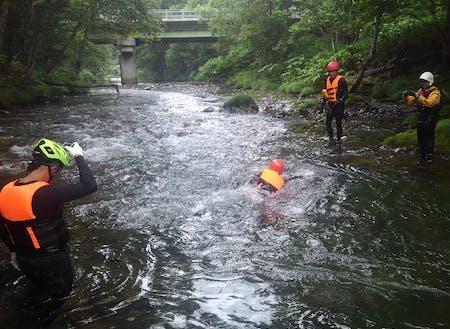 河川観光での安全管理訓練!