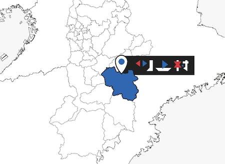 川上村は奈良県の東に位置しています。山を挟んだ隣は三重県です。