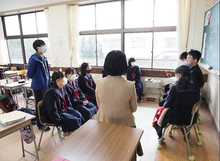 萩高校探究活動の様子