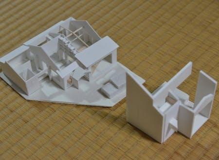 舞鶴高専の学生お手製のジオラマ。改修イメージを形にします。