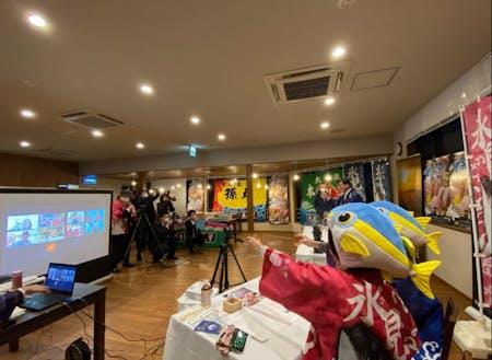 令和2年11月に開催したオンラインイベントの様子です!氷見の地酒やおつまみを片手に盛り上がりました!