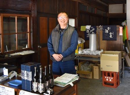 白河駅前本町商店街にある酒蔵「大谷忠吉本店」