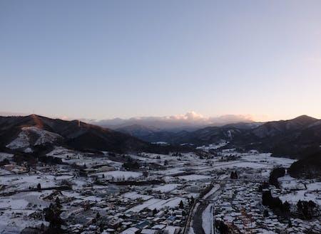 花巻市の冬の風景。日本海ほどじゃないけど、しっかり積もります。