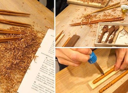 第1回開催のお取り箸づくりworkshopの模様です。