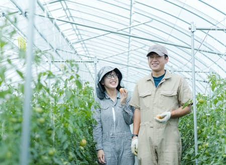 睦良田(むらた)さんご夫妻も、研修制度を利用して、農家さんを目指し中