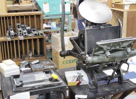 昔ながらの印刷の機械、かっこいい!