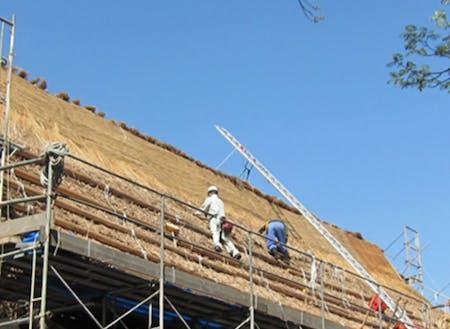 野原建設㈱が実施している茅プロジェクト。建設を通じ地域の安全・安心を守っています。