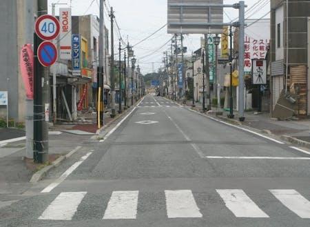 解体前の商店街の様子(2011年5月27日撮影)