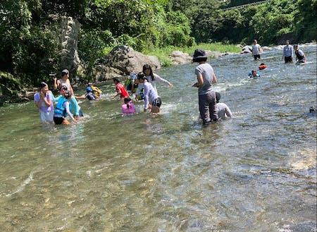 夏の暑い日は川遊び!