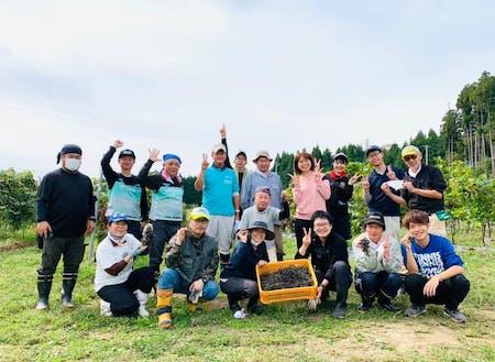 サポーターイベント コヤギファーム収穫イベント