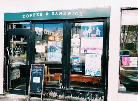 伊那市駅前のカフェ「コーヒーとサンドイッチおかもと」