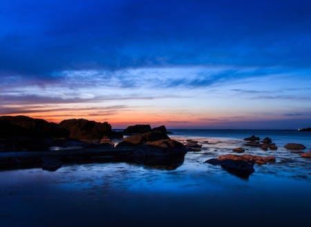 夕暮れの越前海岸