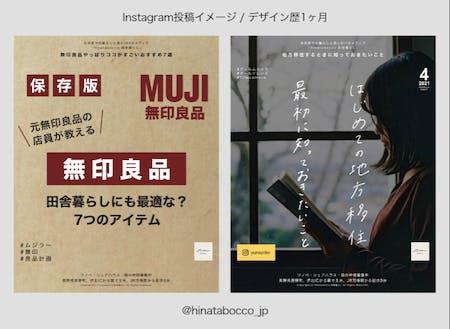 実際のInstagramの発信@hinatabocco_jp
