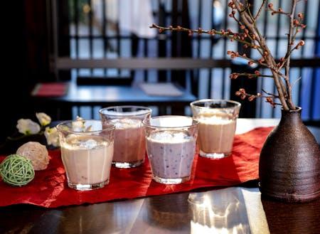 活動拠点の株式会社まちづくり村田直営の飲食店。糀ダイニング藍(あい)では、種類豊富な甘酒や糀料理が堪能できます。