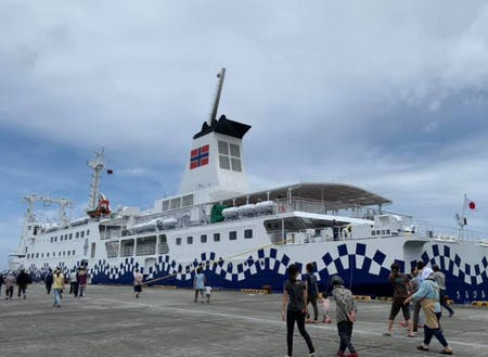 東京(竹芝)から毎日就航する船♪