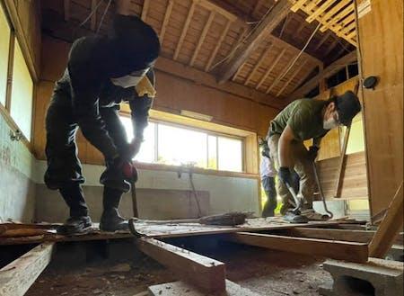 藤田さんは現在空き家を改修してシェアハウスを作ろうとしている