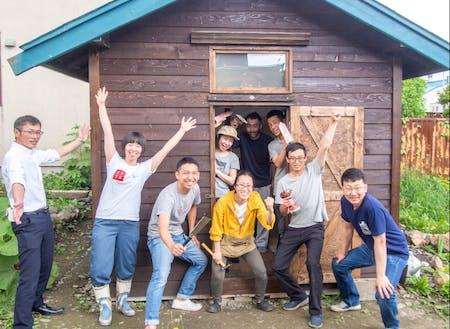 起業型の塚本さんはエステサロン&漢方で事業化。小屋から作成しました。