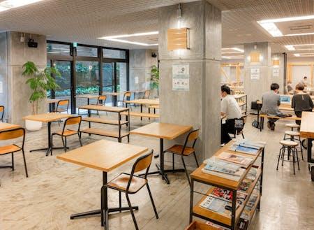 佐賀県庁B1階にあるカフェテリア「SAGA CHIKA」
