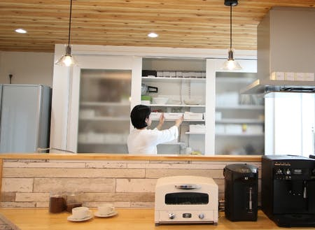 """オープンキッチンでも""""毎日が片付く""""をご提案"""