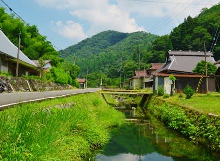 農村地区の風景。移住者の人気も高いです。