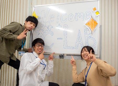 三瓶・野村 両公営塾のスタッフ(左から)岡島さん、齊藤さん、土居さん