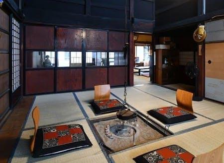 TOGISOの囲炉裏。