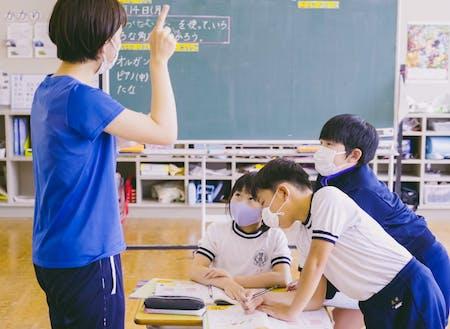 佐々並小学校の授業の様子
