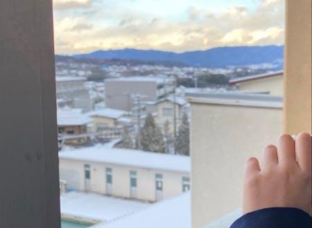 教室から見える伊那谷の風景