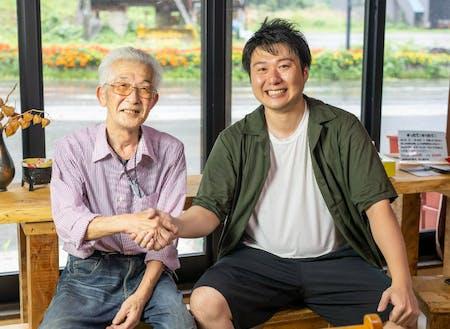 前生産者の大野さんとヒダカラ豆富事業責任者の古田
