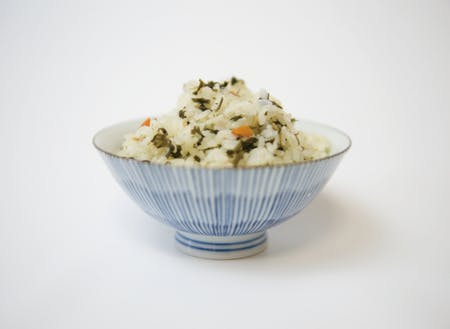 くさぎ菜という山菜を混ぜたごはん