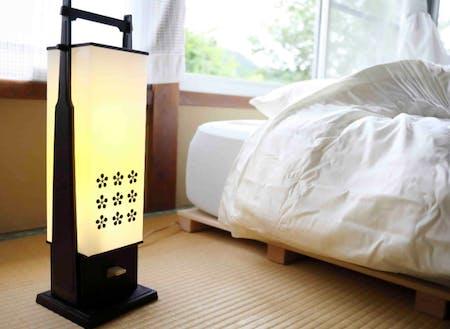 個室では一人でゆっくり小さな光に包まれて