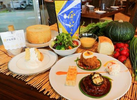 仙台市内の飲食店と連携した涌谷町産の食材を使ったランチフェアを開催したりしています