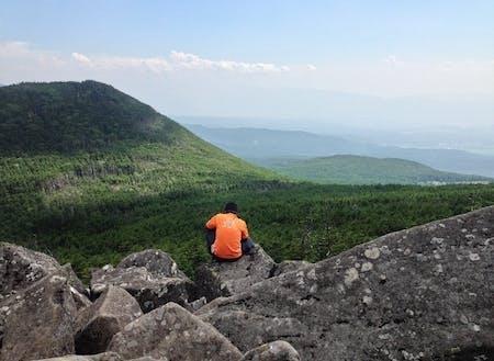 縞枯山展望台からの眺望