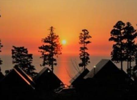 ガラガラ山キャンプ場から眺める夕日