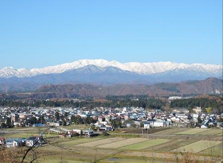 西会津町の俯瞰図