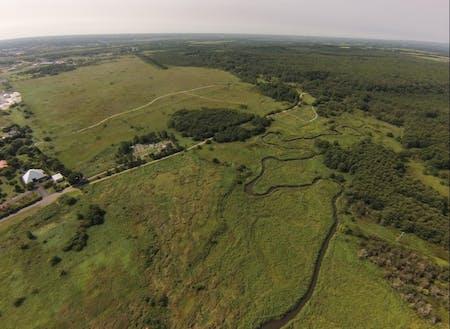 ポー川史跡自然公園全景