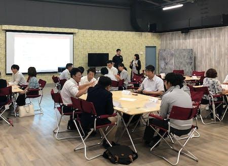 定期的に開催される企業間コラボ創出に向けた勉強会