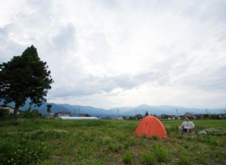 眺めの良い場所でキャンプも可能