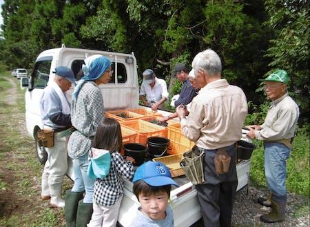 子ども達が参加する収穫イベント