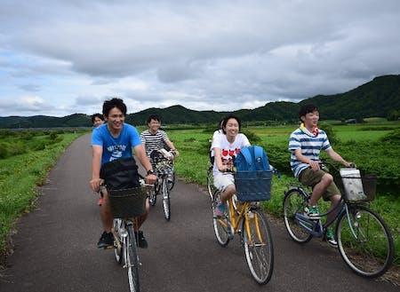 大学生とサイクリングマップづくり