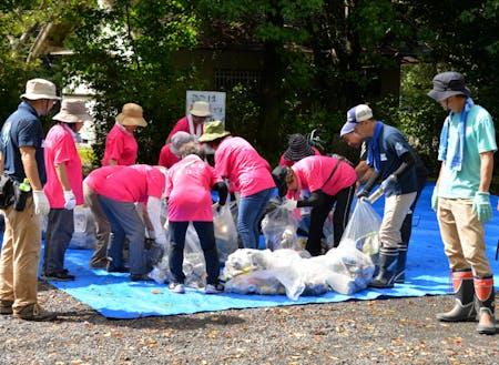 地元有志の銚子川清掃
