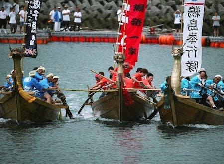 宮窪の水軍レース 友人たちとチームを組んで出場してみよう